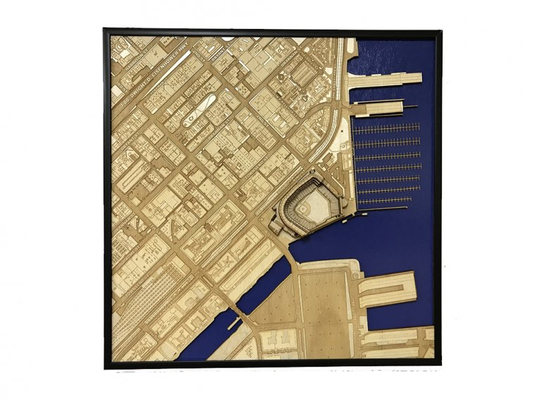Laser Cut Stadium City Map by Stadium Map Art - 14
