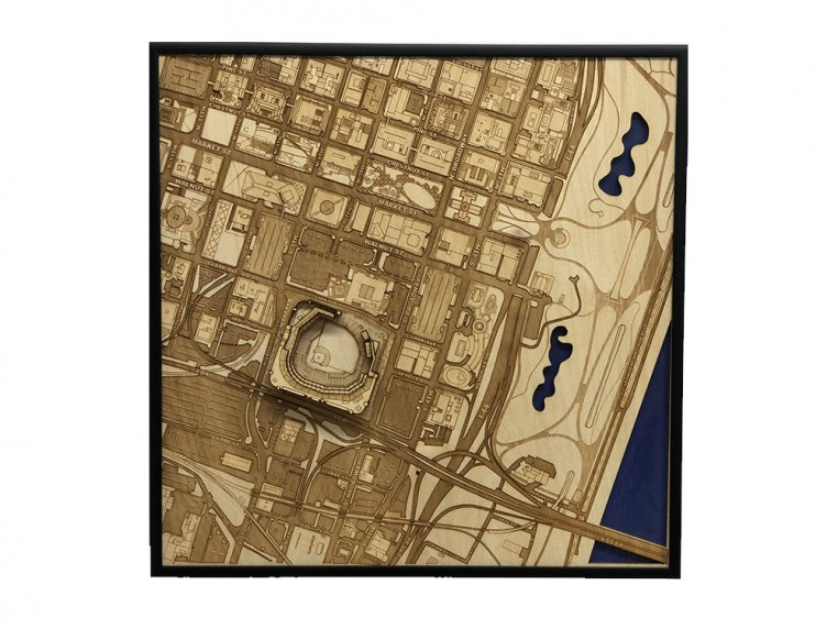 Laser Cut Stadium City Map by Stadium Map Art - 20