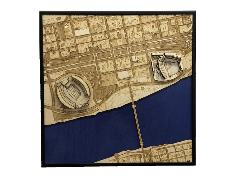 Laser Cut Stadium City Map by Stadium Map Art - 22