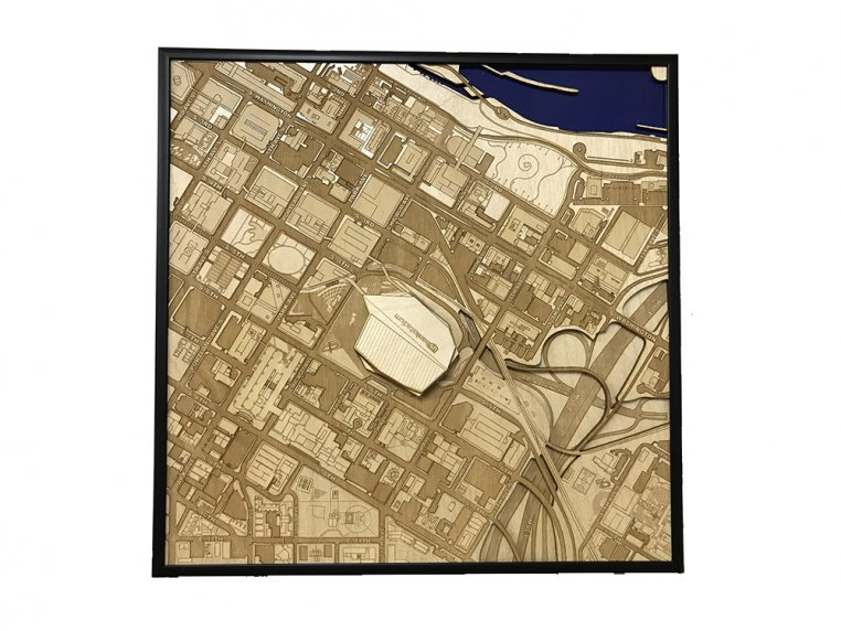 Laser Cut Stadium City Map by Stadium Map Art - 24