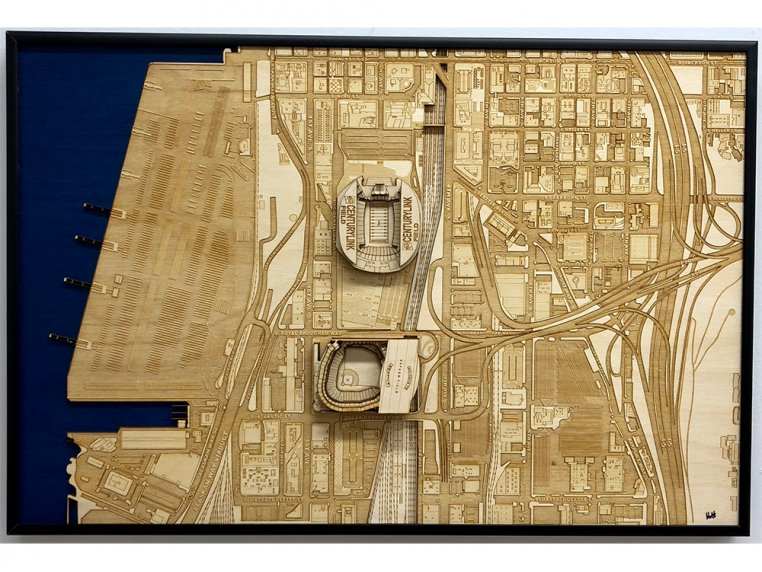Laser Cut Stadium City Map by Stadium Map Art - 31