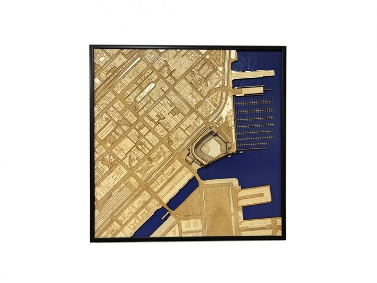 Laser Cut Stadium City Map by Stadium Map Art - 15