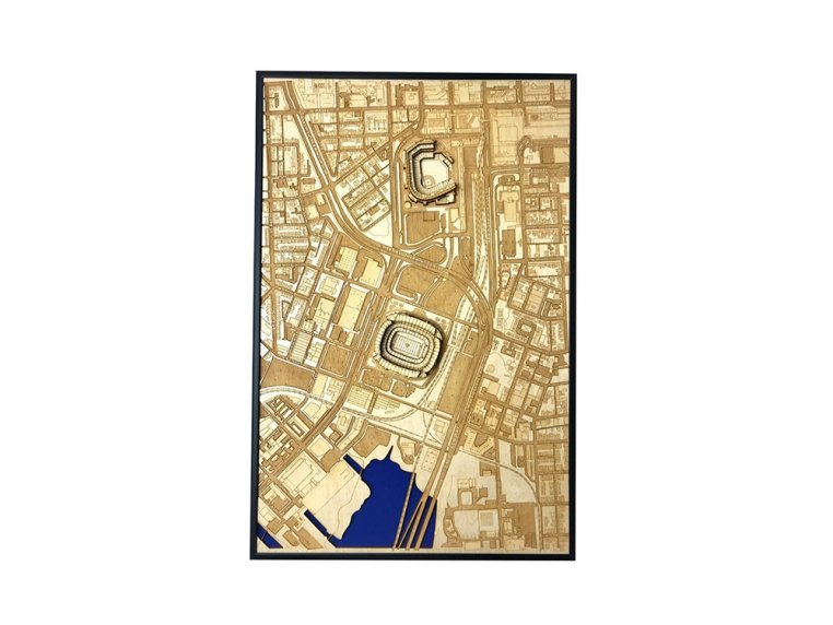 Laser Cut Stadium City Map by Stadium Map Art - 17
