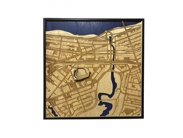 Laser Cut Stadium City Map by Stadium Map Art - 21