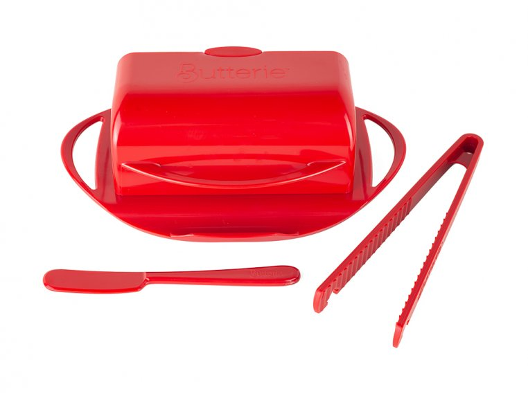 Butter Dish & Toast Tongs Set by Butterie - 7