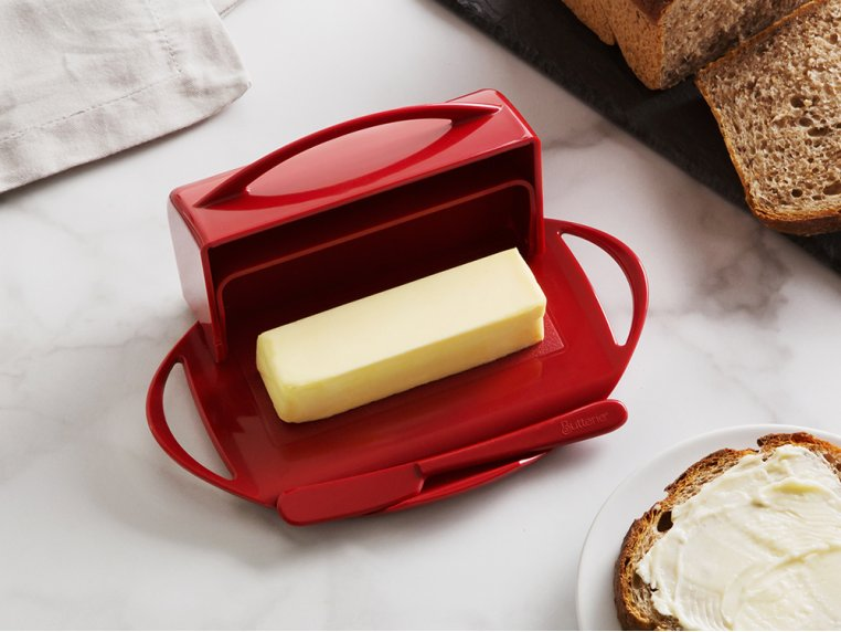Flip-Top Butter Dish & Spreader by Butterie - 1