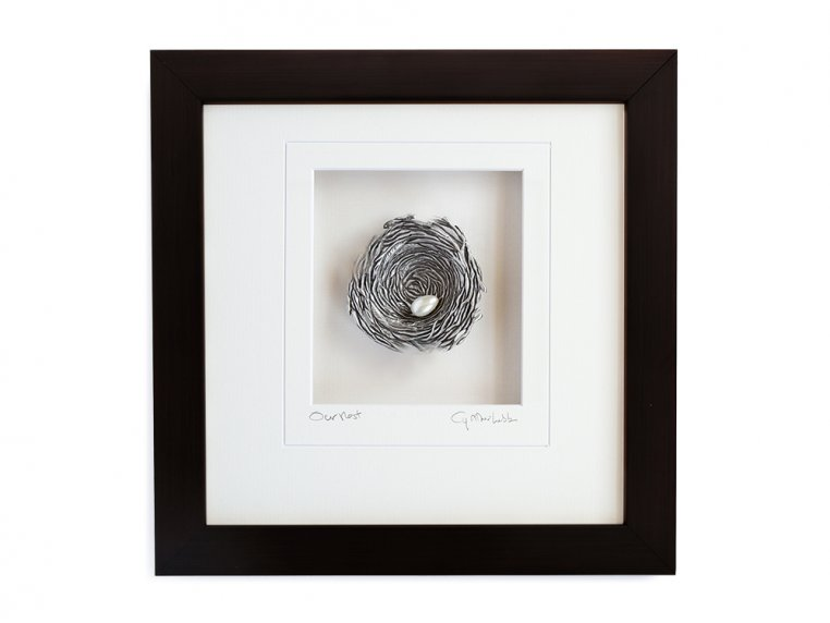 Framed Pewter Bird's Nest by Cynthia Webb Designs - 11