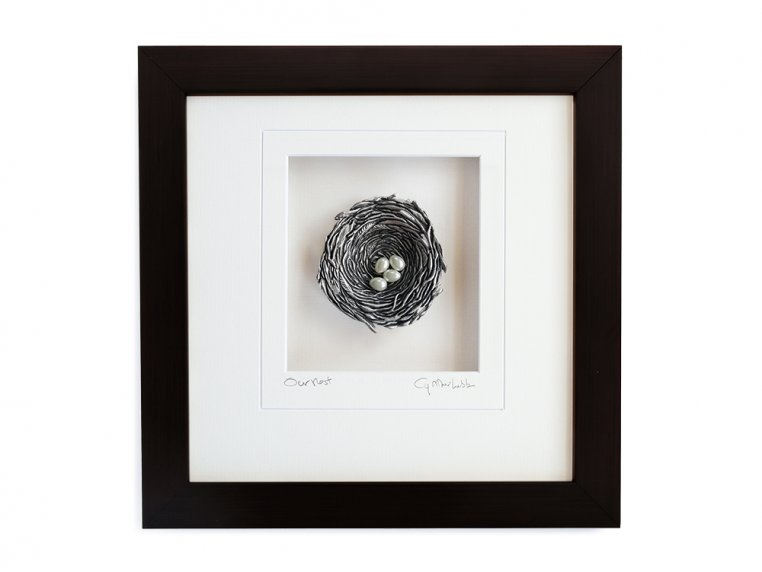 Framed Pewter Bird's Nest by Cynthia Webb Designs - 14