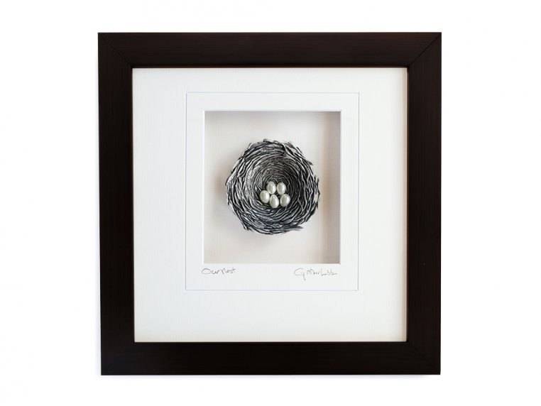 Framed Pewter Bird's Nest by Cynthia Webb Designs - 15