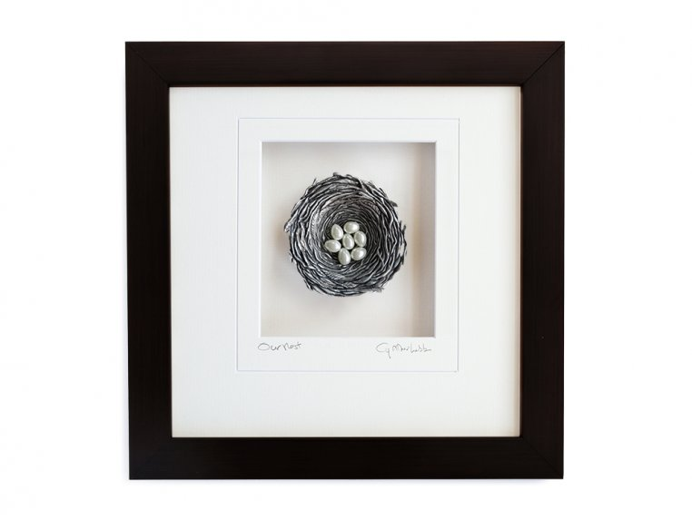 Framed Pewter Bird's Nest by Cynthia Webb Designs - 17