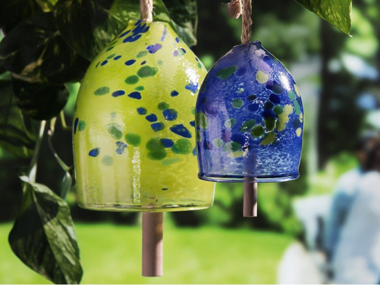 Positivity Bell by Kitras Art Glass - 1