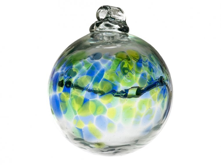 Birthstone Ornament by Kitras Art Glass - 13