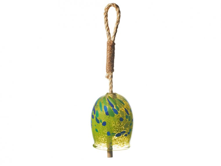 Positivity Bell by Kitras Art Glass - 5