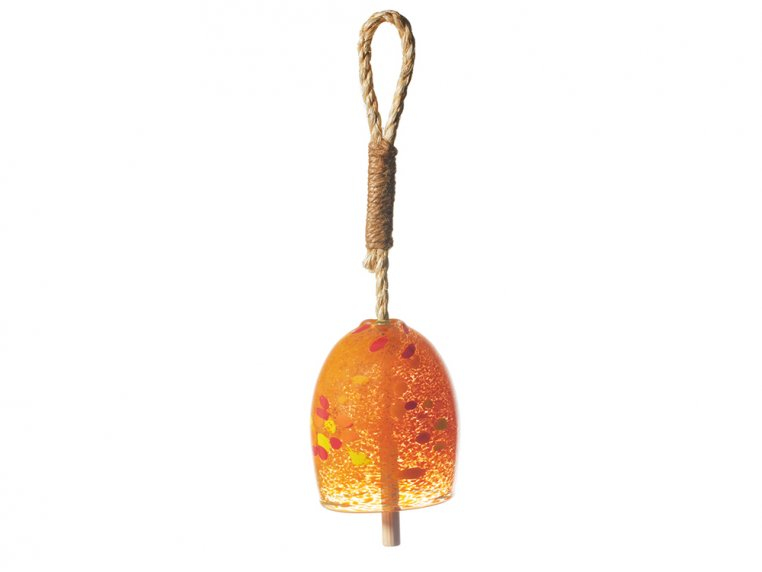 Positivity Bell by Kitras Art Glass - 6