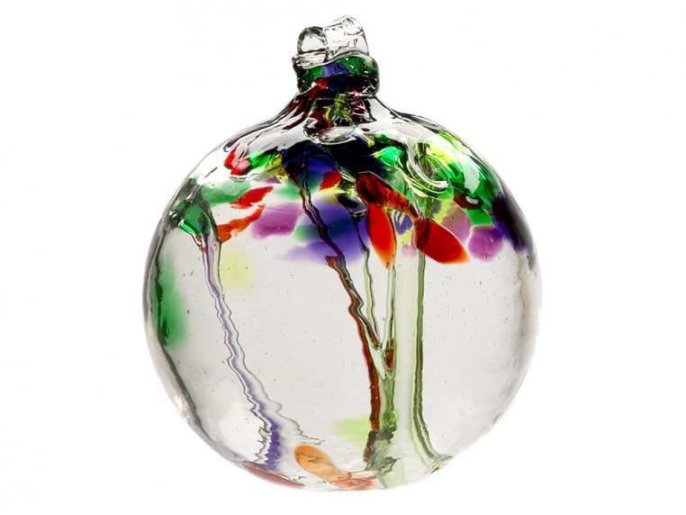 Tree of Enchantment Ornament by Kitras Art Glass - 12