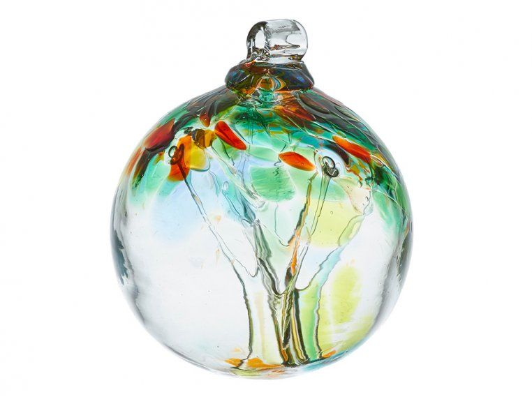 Tree of Enchantment Ornament by Kitras Art Glass - 13