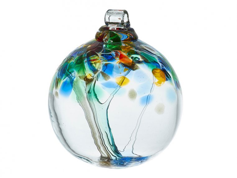 Tree of Enchantment Ornament by Kitras Art Glass - 11