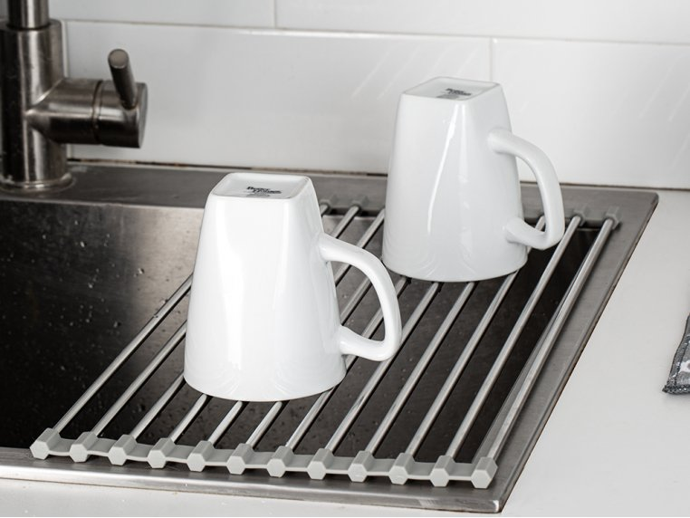 Roll-Up Over the Sink Drying Rack by Grand Fusion - 1