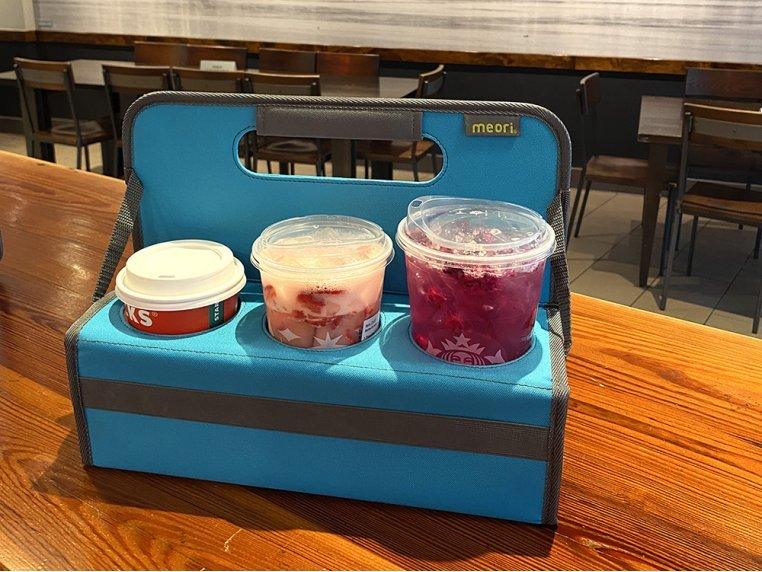 Reusable 6-Cup Portable Drink Carrier by meori - 2
