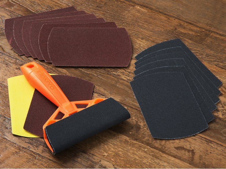 Hand Sanding Tool + 2 Sandpaper Refill Packs by FlexPro - 1