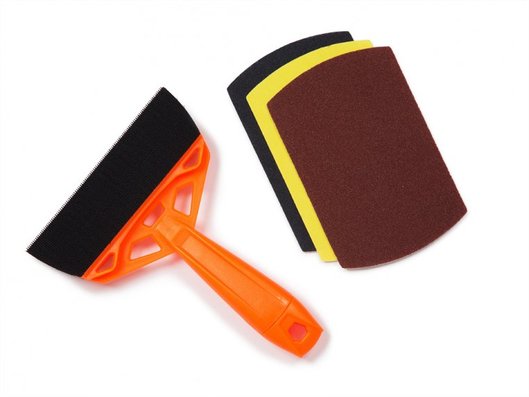 Hand Sanding Tool + 2 Sandpaper Refill Packs by FlexPro - 6