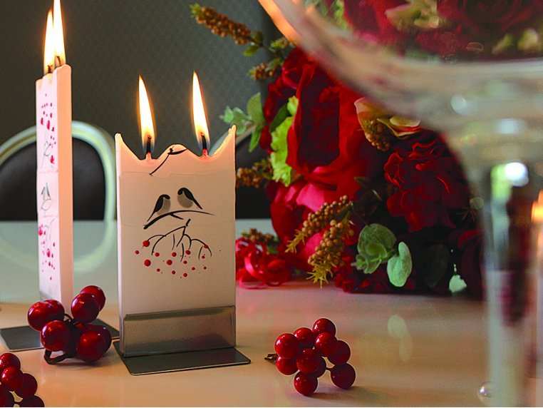 Handmade Holiday Flat Candle by Flatyz - 3
