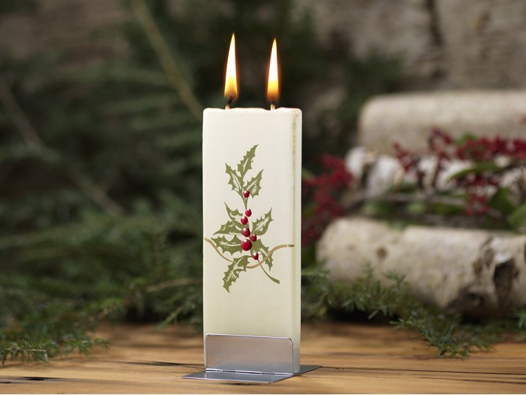 Handmade Holiday Flat Candle by Flatyz - 4