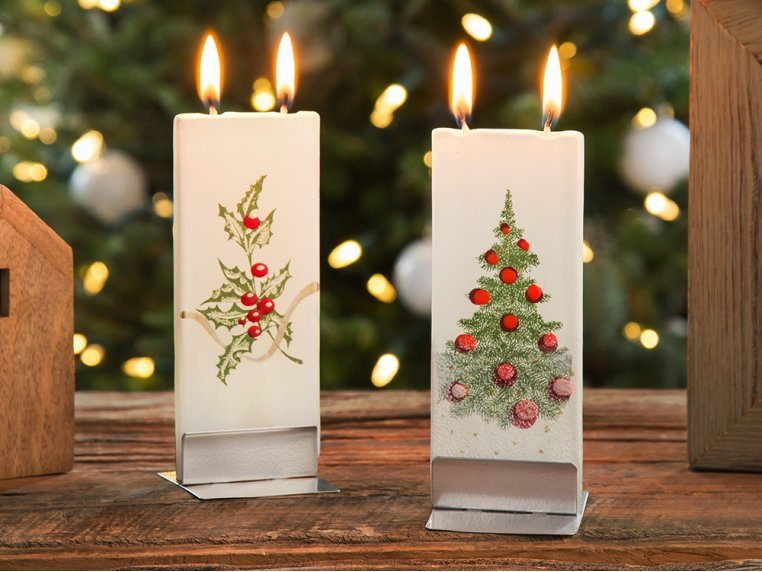 Handmade Holiday Flat Candle by Flatyz - 1
