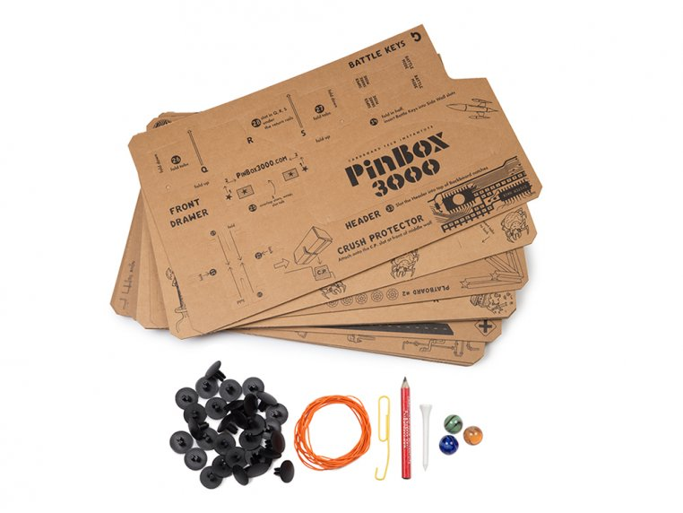 PinBox 3000 Pinball Machine Kit by Cardboard Teck - 5