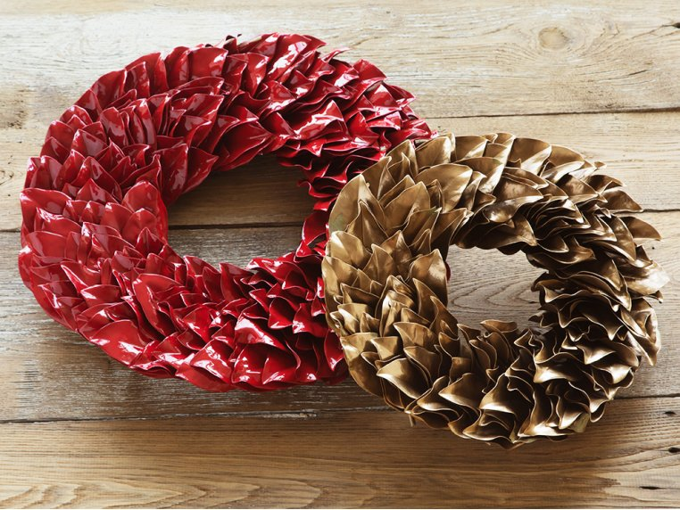 Lacquered Magnolia Leaf Wreath by The Magnolia Company - 3
