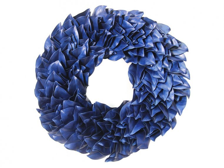 Lacquered Magnolia Leaf Wreath by The Magnolia Company - 6