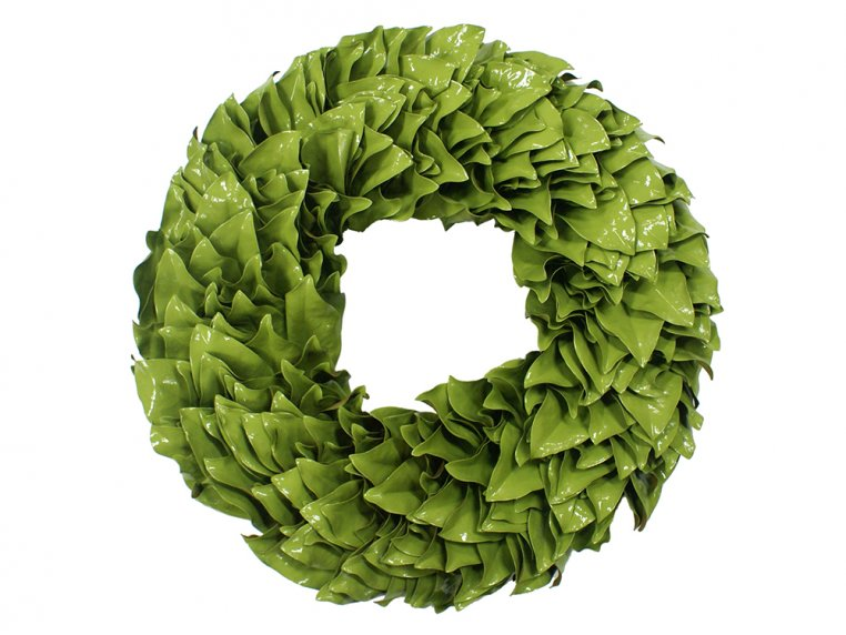 Lacquered Magnolia Leaf Wreath by The Magnolia Company - 7
