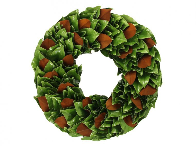 Lacquered Magnolia Leaf Wreath by The Magnolia Company - 8
