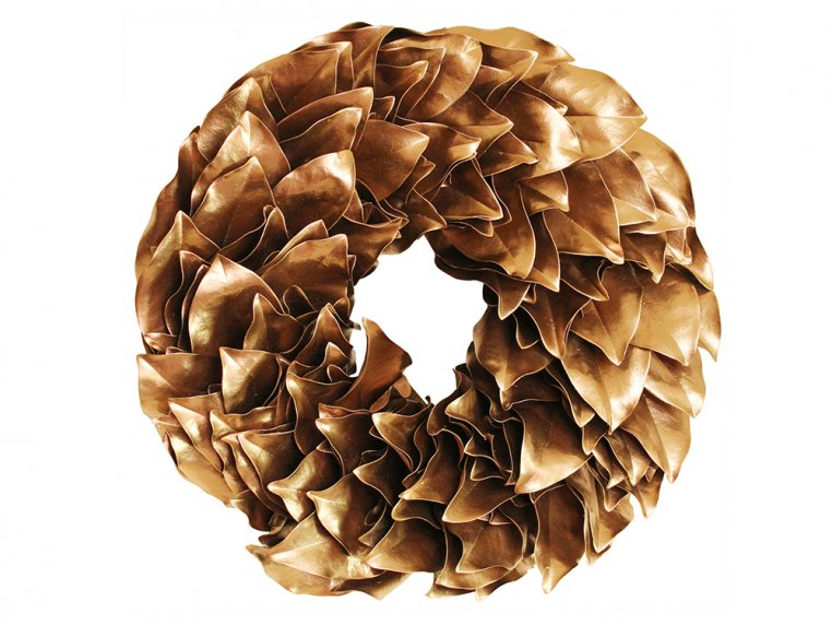 Lacquered Magnolia Leaf Wreath by The Magnolia Company - 13