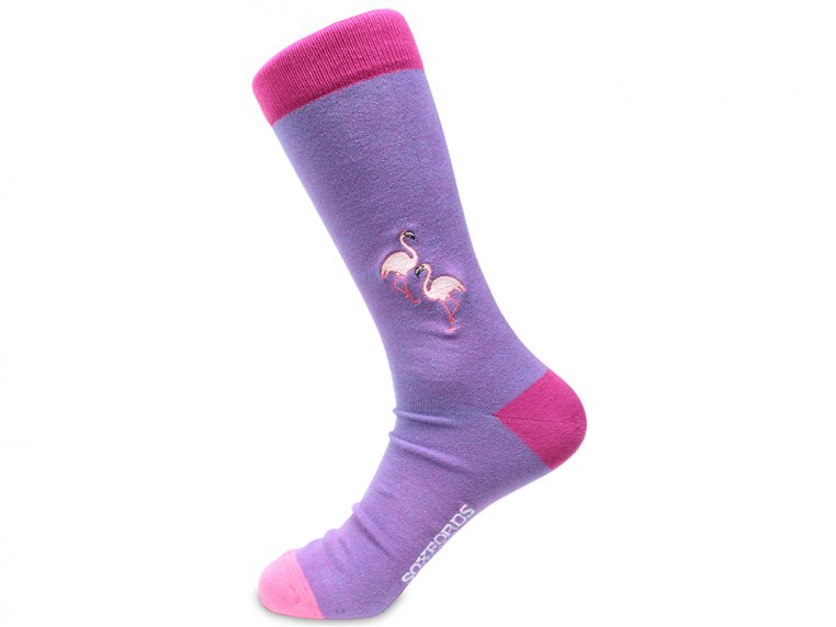 Pima Cotton Embroidered Socks by Soxfords - 20