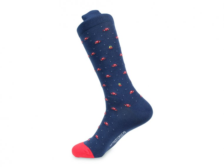 Pima Cotton Embroidered Socks by Soxfords - 7