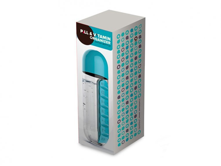 Pill Organizer Water Bottle by Asobu - 4