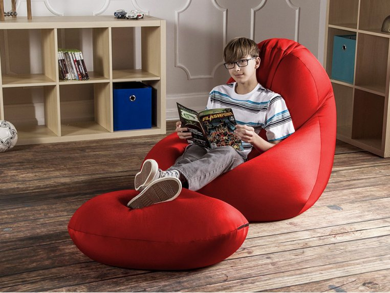 Nimbus Bean Bag Lounge Chair with Ottoman by Jaxx Bean Bags - 1