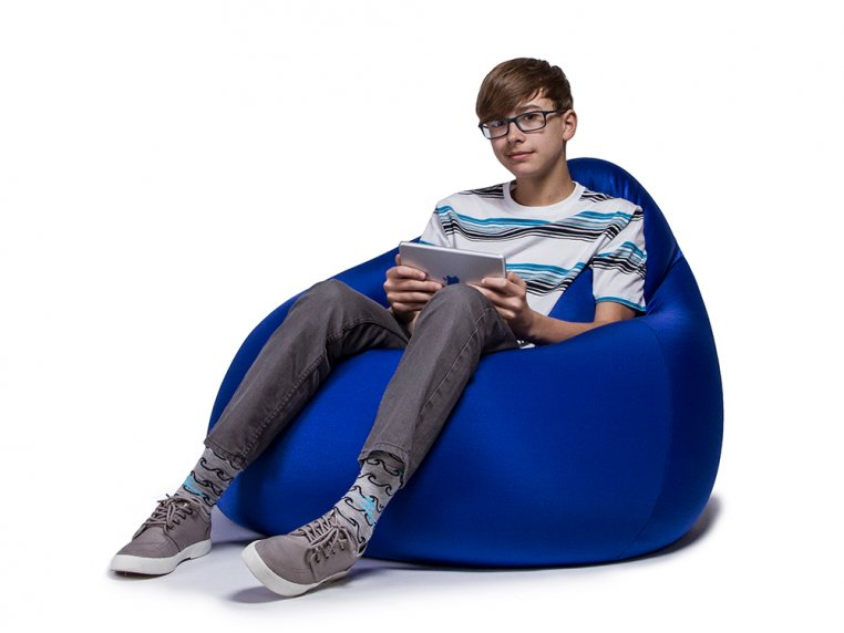 Nimbus Bean Bag Lounge Chair with Ottoman by Jaxx Bean Bags - 3