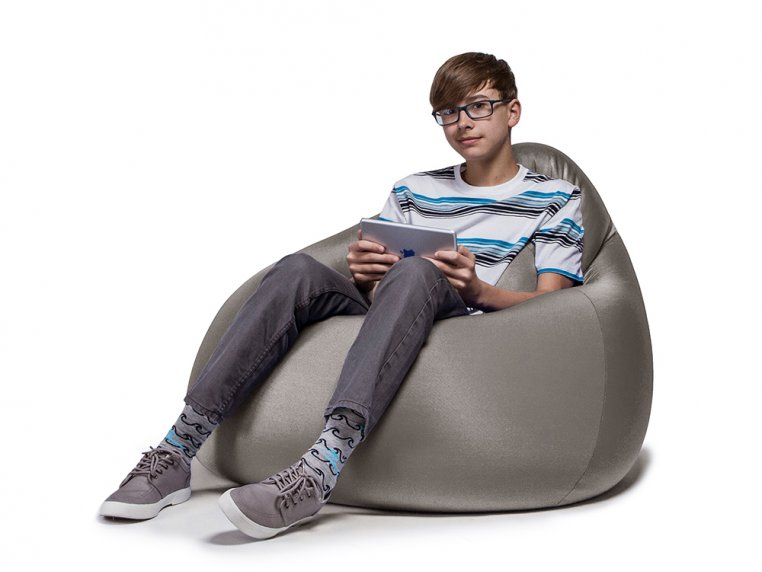 Nimbus Bean Bag Lounge Chair with Ottoman by Jaxx Bean Bags - 5