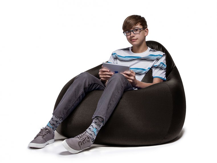Nimbus Bean Bag Lounge Chair with Ottoman by Jaxx Bean Bags - 6