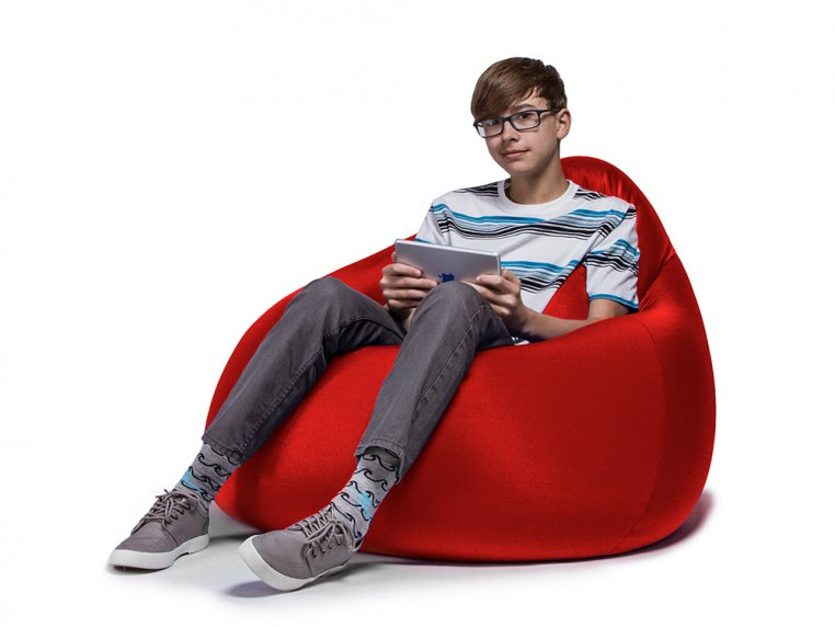 Nimbus Bean Bag Lounge Chair with Ottoman by Jaxx Bean Bags - 7