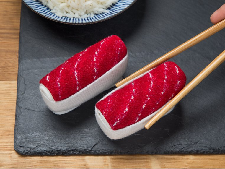 Knitted Sushi Socks by Sukeno Socks - 1