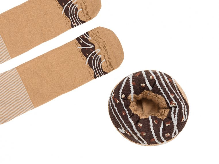 Knitted Doughnut Socks by Sukeno Socks - 6