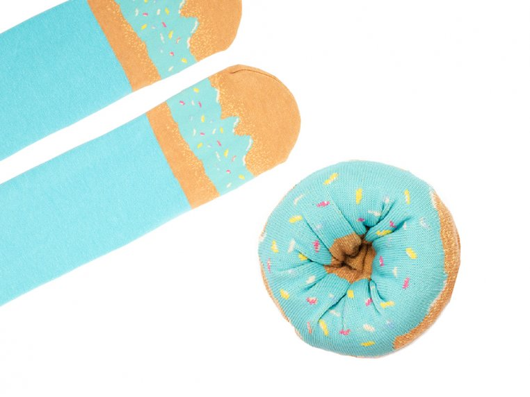 Knitted Doughnut Socks by Sukeno Socks - 7