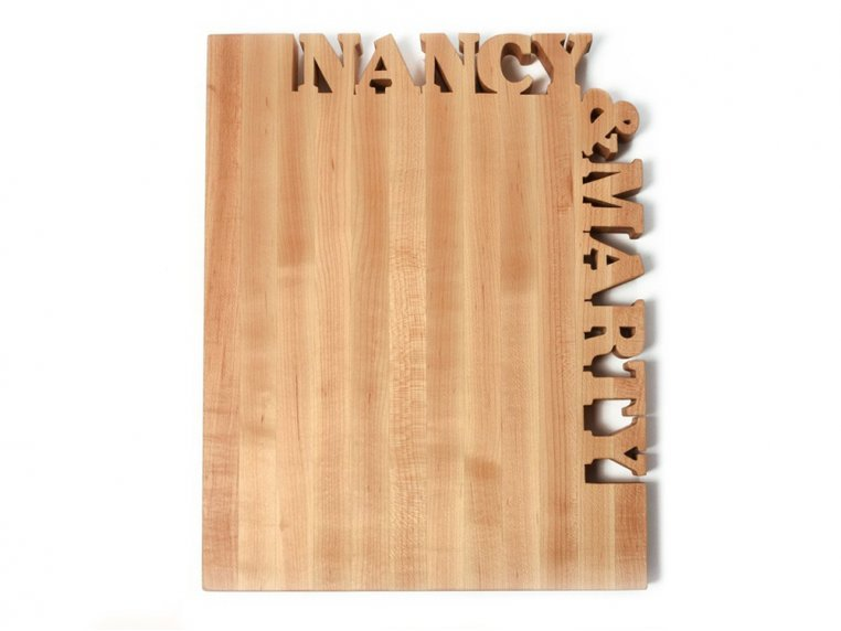 Large Top & Side Personalized Cutting Board by Words with Boards - 3