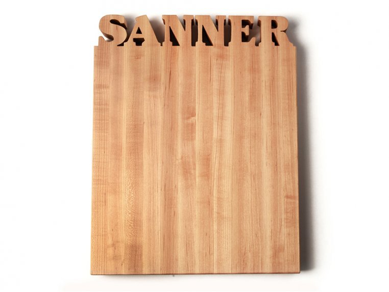 Large Vertical Personalized Cutting Board by Words with Boards - 3