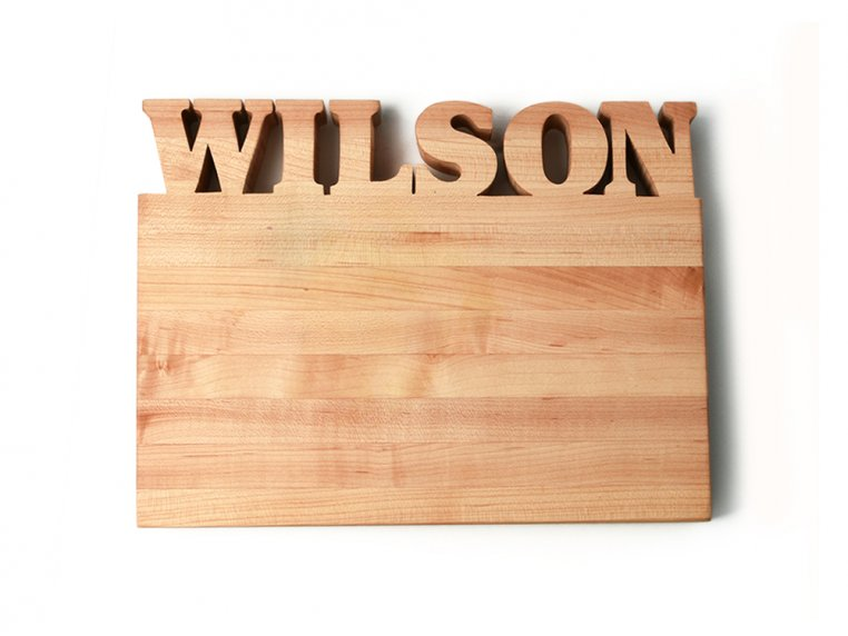 Small Horizontal Personalized Cutting Board by Words with Boards - 3
