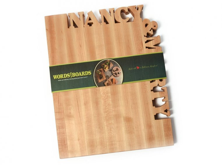Large Top & Side Personalized Cutting Board by Words with Boards - 4