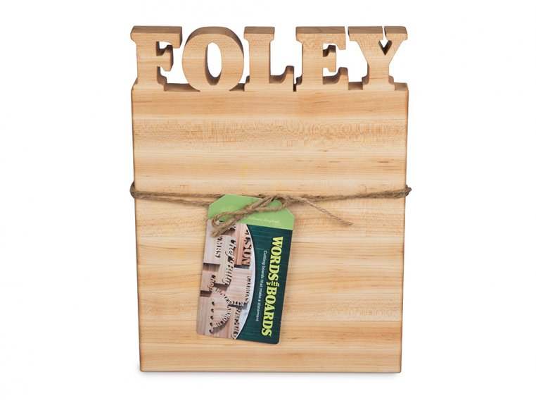 Small Vertical Personalized Cutting Board by Words with Boards - 4
